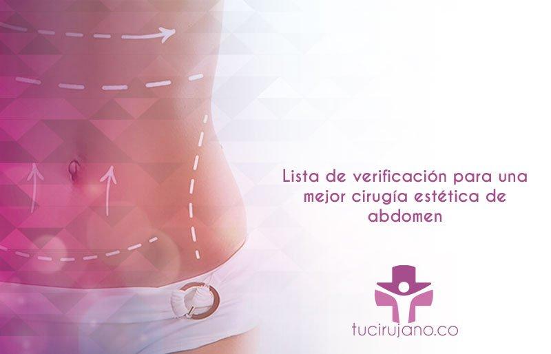 Lista de verificación para una mejor cirugía estética de abdomen